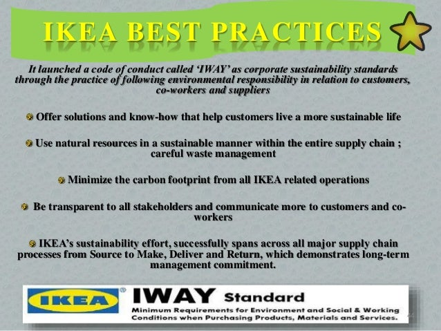 csr practices at ikea In the middle east, however, csr is largely characterised by a charity  the  recent avalanche of criticism directed at ikea by swedes for editing.