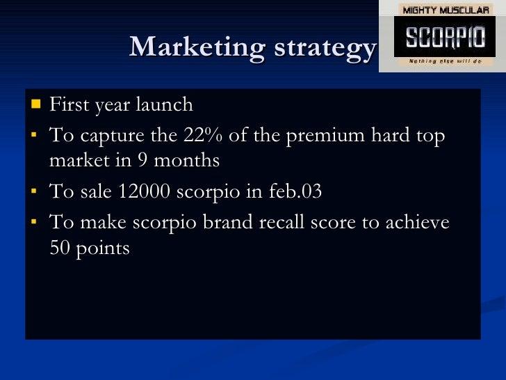 scorpio marketing strategy