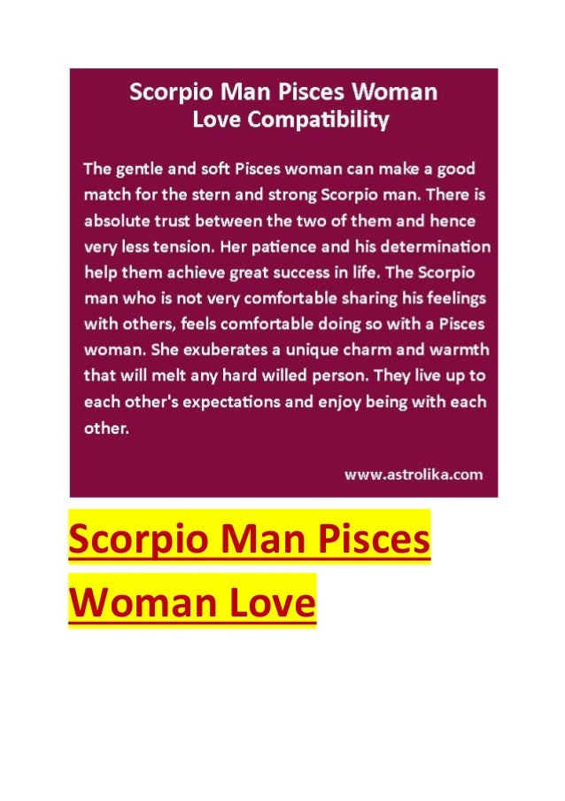 Scorpio man pisces woman love compatibility attraction horoscope