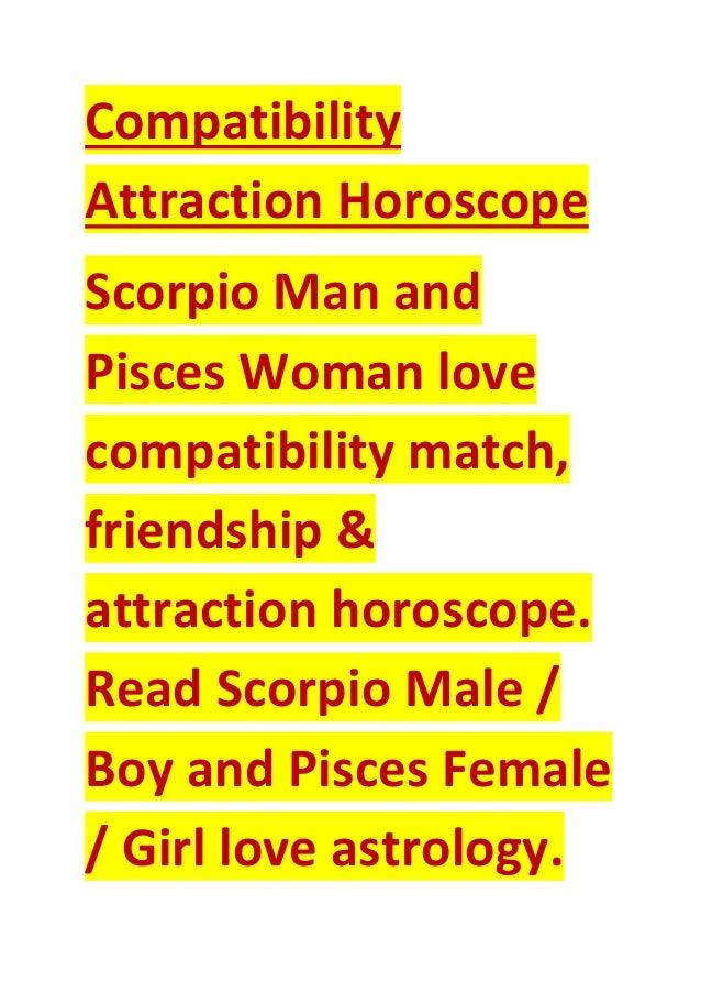 Scorpio man pisces woman love compatibility attraction horoscope
