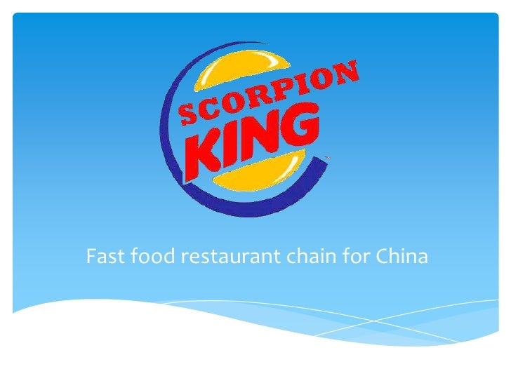 Fast food restaurant chain for China