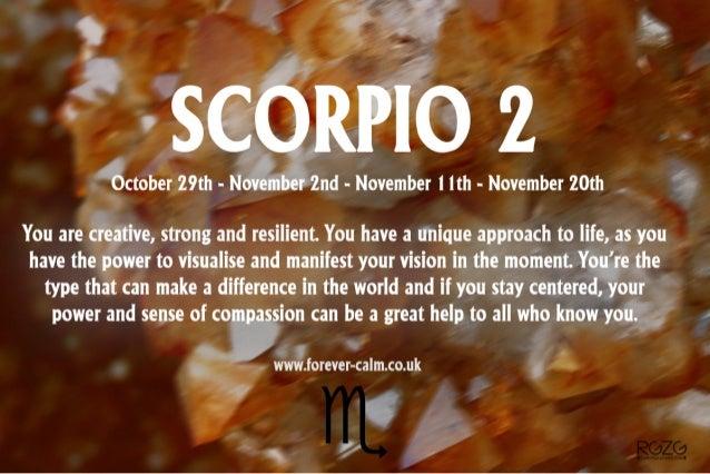 Description of scorpios born on november 4th