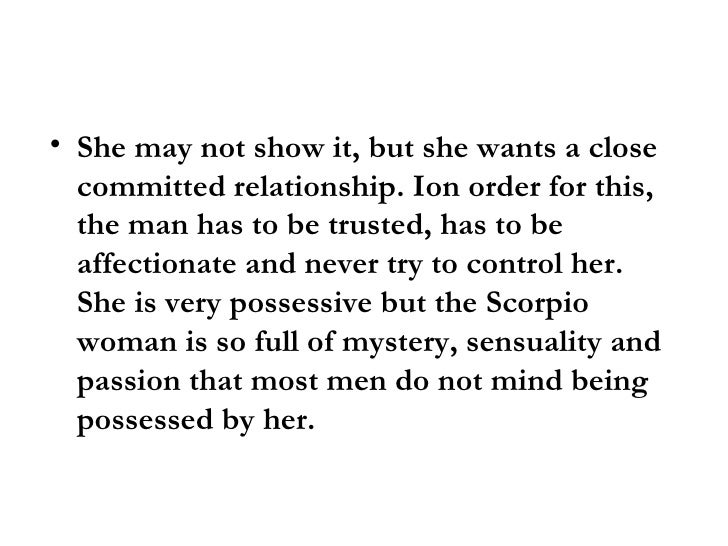 What scorpio woman wants in a man