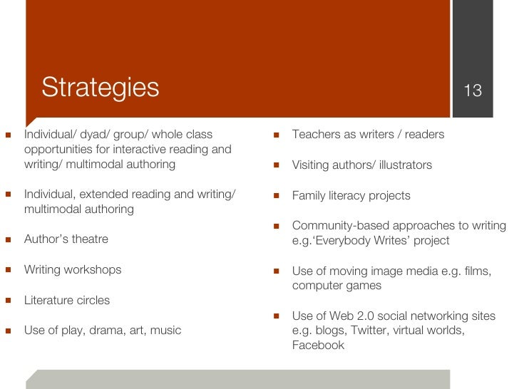 Strategies                                                                     13■ Individual/ dyad/ group/ whole class   ...