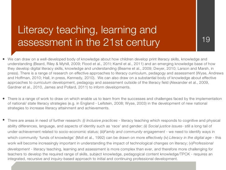 Literacy teaching, learning and         assessment in the 21st century                                                    ...