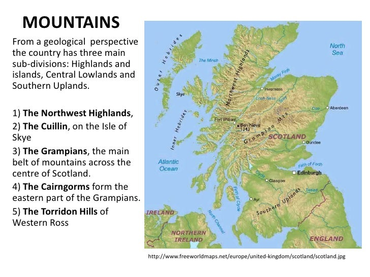 Scotland - Central lowlands map