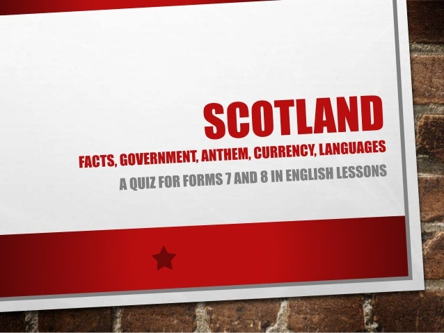 Scotland Facts Quiz Answers