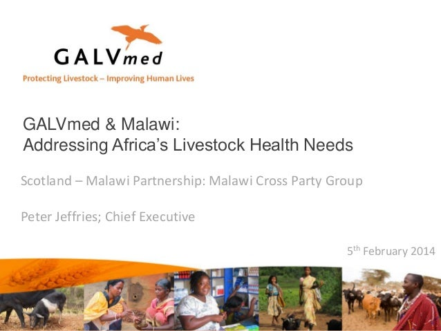 GALVmed & Malawi: Addressing Africa's Livestock Health Needs Scotland – Malawi Partnership: Malawi Cross Party Group Peter...
