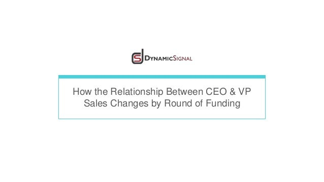 How the Relationship Between CEO & VP Sales Changes by Round of Funding