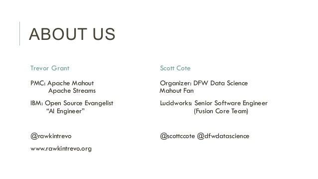 Solr and Machine Vision - Scott Cote, Lucidworks & Trevor Grant, IBM Slide 2