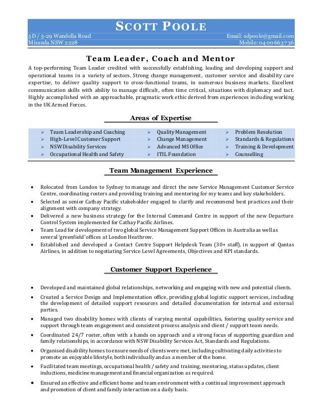 Resume for mentor youth