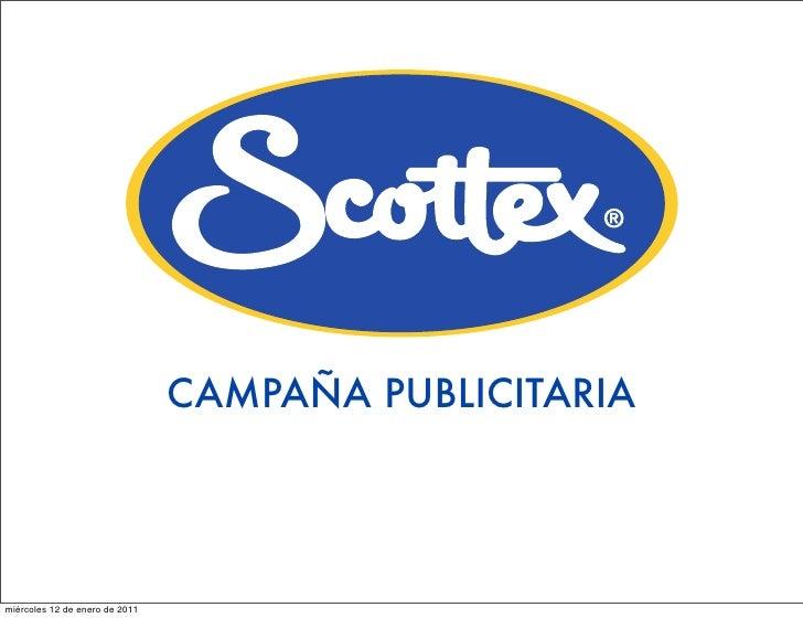 CAMPAÑA PUBLICITARIAmiércoles 12 de enero de 2011