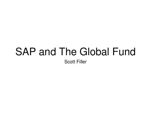 SAP and The Global Fund Scott Filler