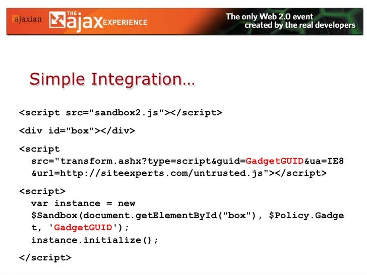 """Policies<br />Contextually-aware API """"tables""""<br />Allow/Deny/Augment rules<br />Cascading model<br />Default """"Gadget"""" Pol..."""