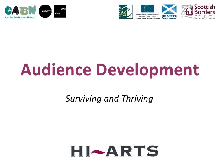 Audience Development Surviving and Thriving