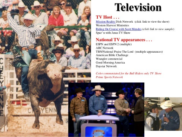 Television TV Host . . . Mission Reality Dish Network (click link to view the show) Western Harvest Ministries Riding On C...
