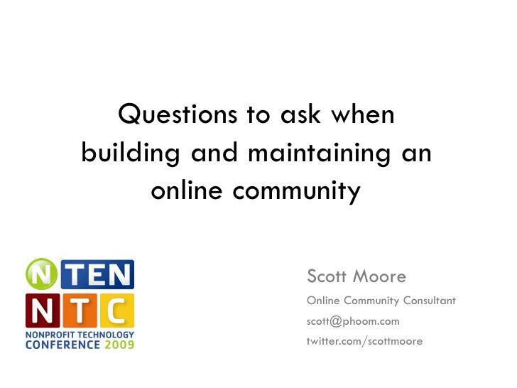Questions To Ask When Building An Online Community