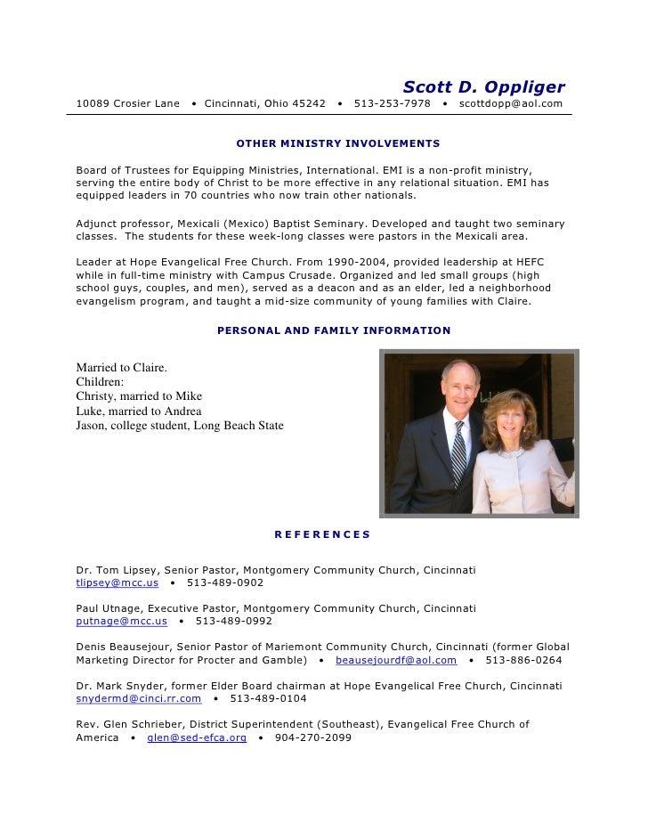 scott oppliger resume 2010