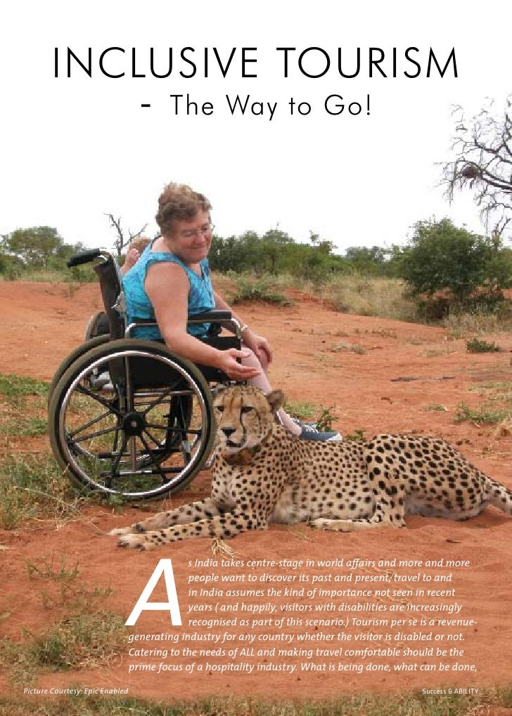 INCLUSIVE TOURISM             - The Way to Go!                                      A                                     ...