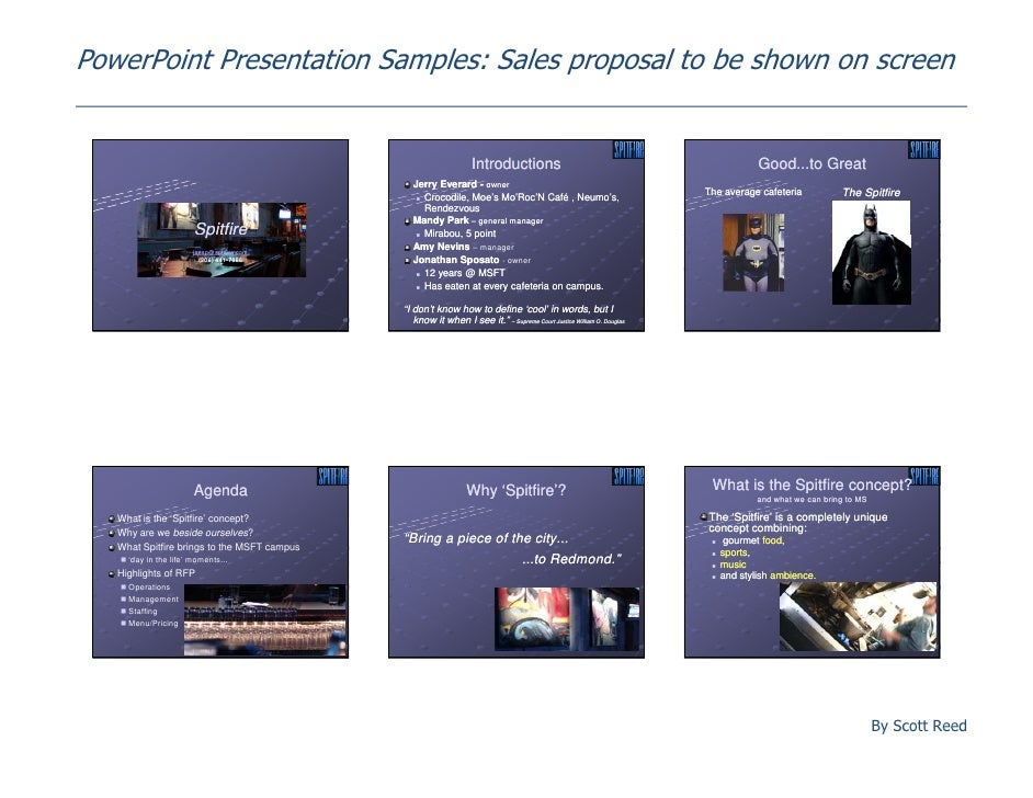 proposal presentation example