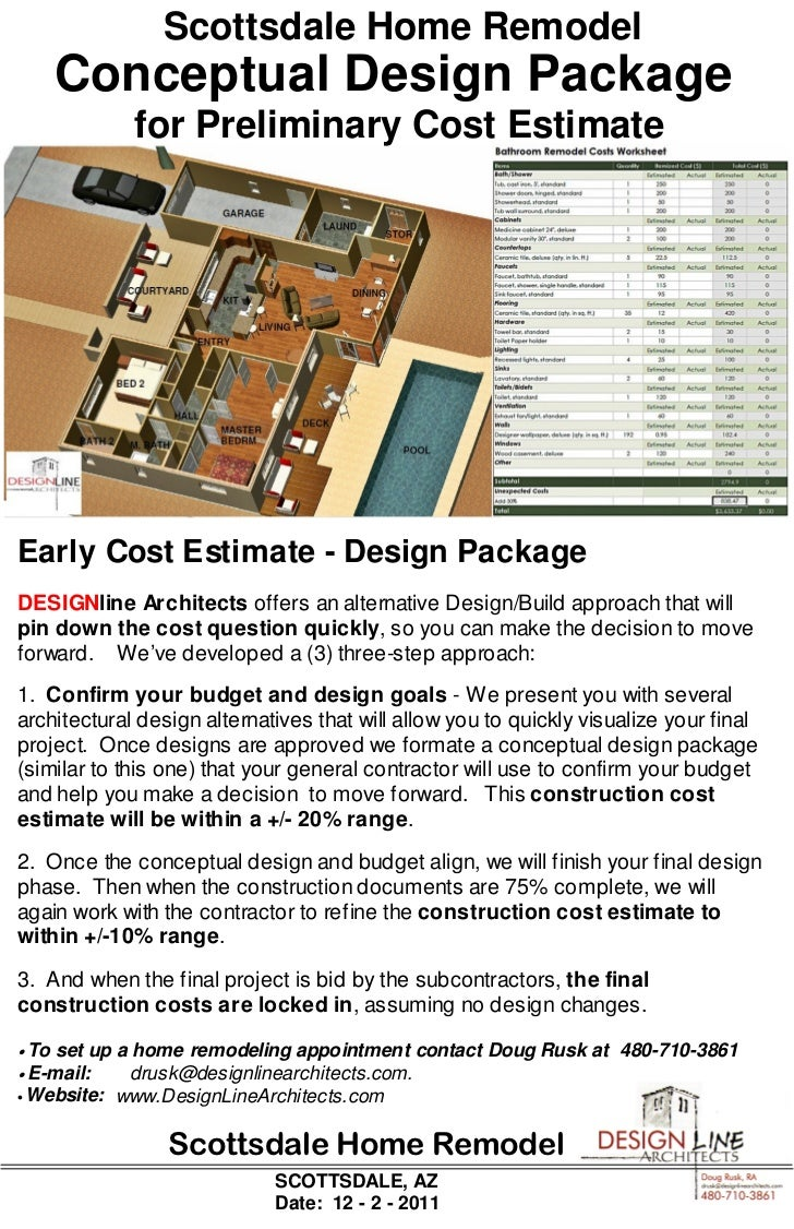 home remodel concept cost estimate pkg