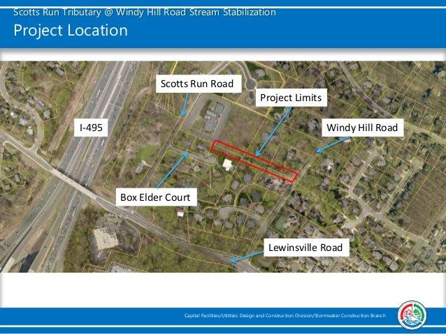 Scotts Run Tributary at Windy Hill Road Stream Stabilization Slide 3