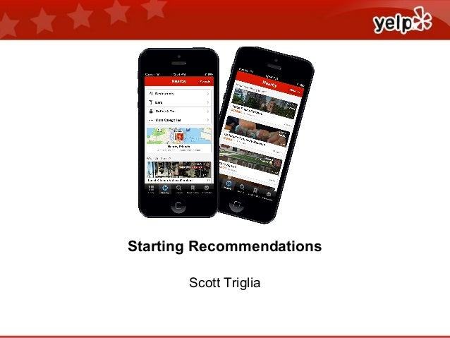 Starting Recommendations Scott Triglia