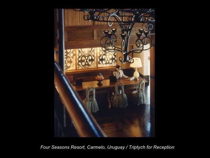 Four Seasons Resort, Carmelo, Uruguay / Triptych for Reception