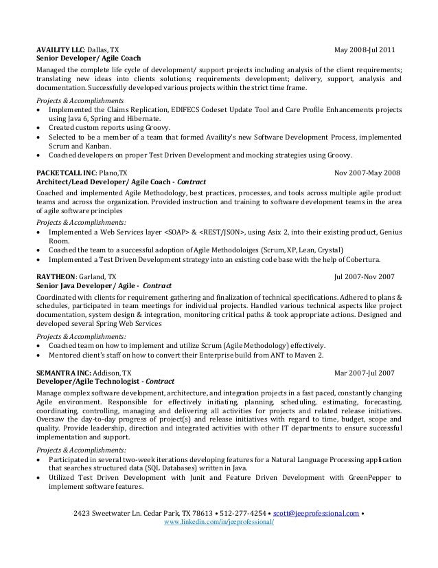 software engineer sample developer resume 2