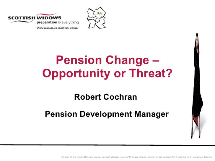 Pension Change – Opportunity or Threat? Robert Cochran  Pension Development Manager
