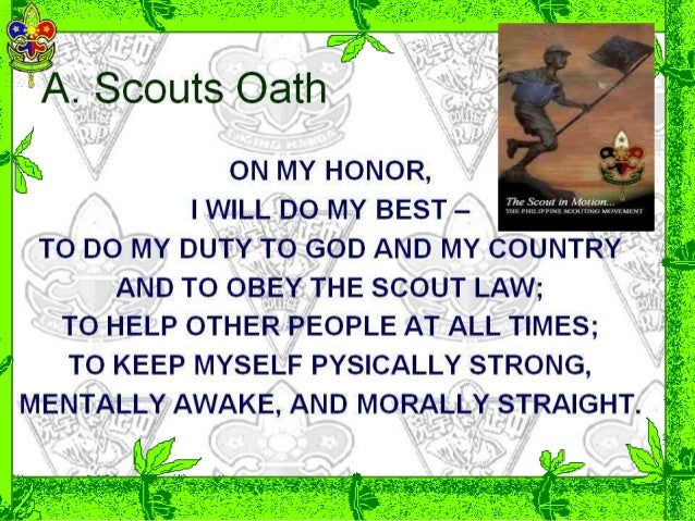 photo relating to Scout Law Printable identified as Scout beliefs