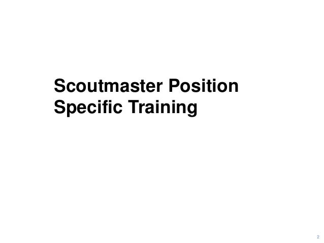 Scoutmaster Position-Specific Training - Flipbook Version Slide 2