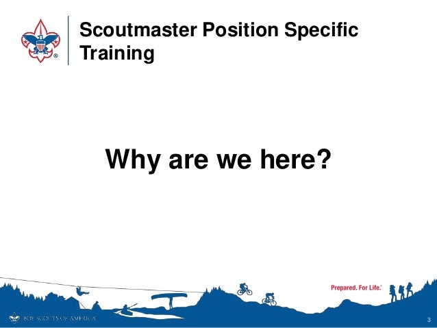 Scoutmaster Position-Specific Training - Flipbook Version Slide 3