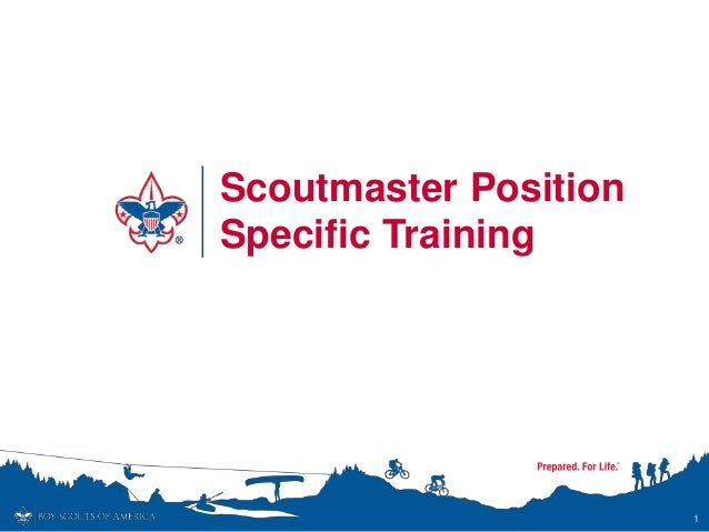 Scoutmaster Position Specific Training 1