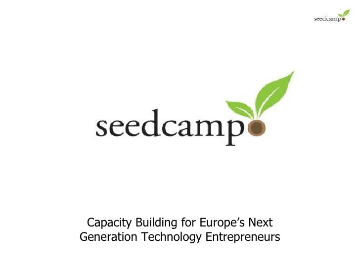 CONFIDENTIAL<br />Capacity Building for Europe's Next Generation Technology Entrepreneurs<br />