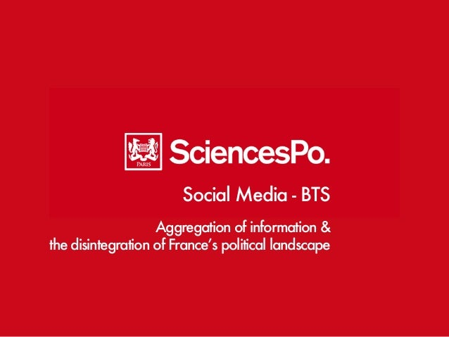Social Media - BTS  Aggregation of information &  the disintegration of France's political landscape