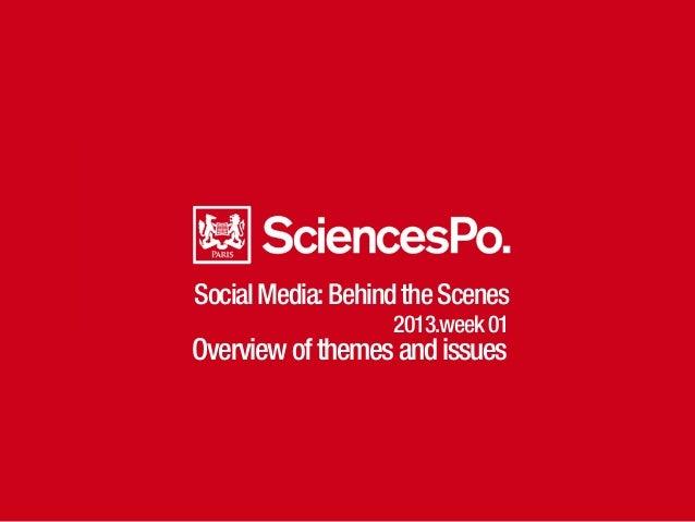 SocialMedia:BehindtheScenes 2013.week01 Overviewofthemesandissues