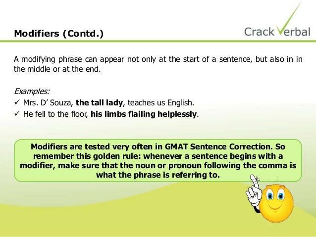 GMAT Sentence Correction: Modifying Phrases - Kaplan Test Prep