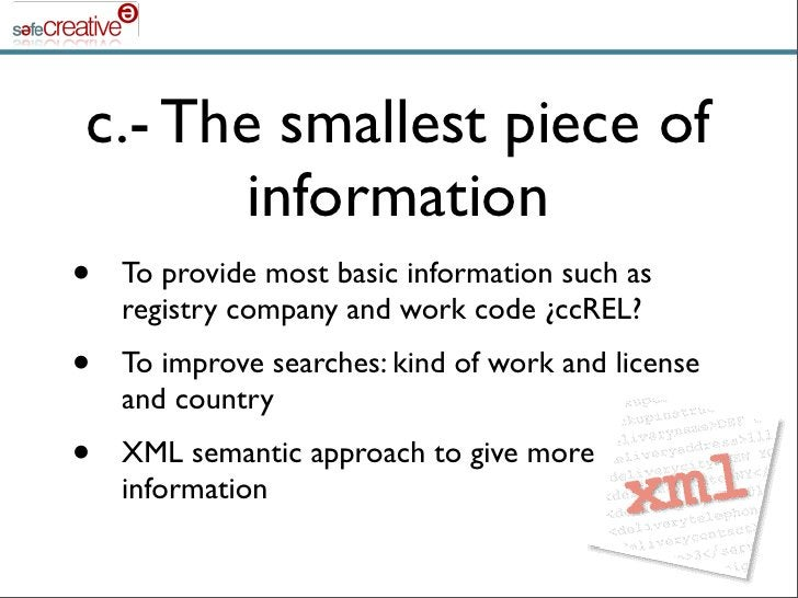 c.- The smallest piece of        information •   To provide most basic information such as     registry company and work c...
