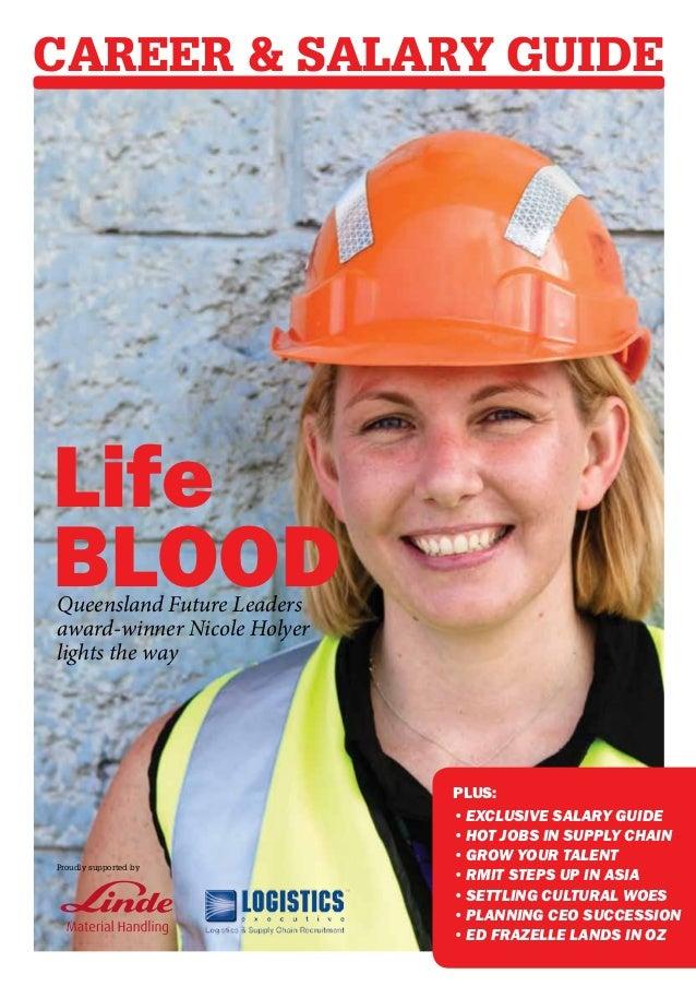 Career & Salary GuideLifeBloodQueensland Future Leadersaward-winner Nicole Holyerlights the way                           ...