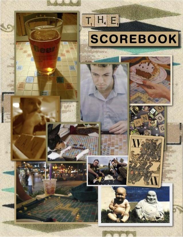 Scrabble scorebook cover