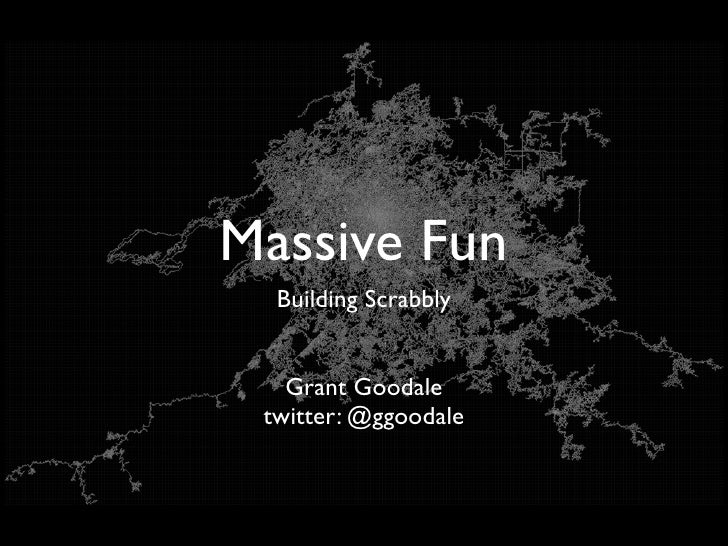 Massive Fun   Building Scrabbly      Grant Goodale  twitter: @ggoodale