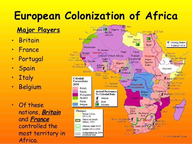 the european colonization of africa There is no unanimity amongst scholars regarding the impact of west ern colonialism and imperialism on asia and africa on the one impact of western colonialism and imperialism in asia and the western colonization and imperialism was a mixed blessing its effect can be conveniently.