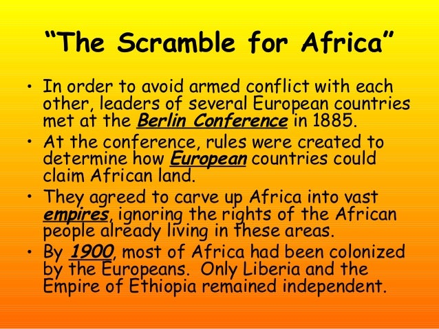 what led to the scramble for africa