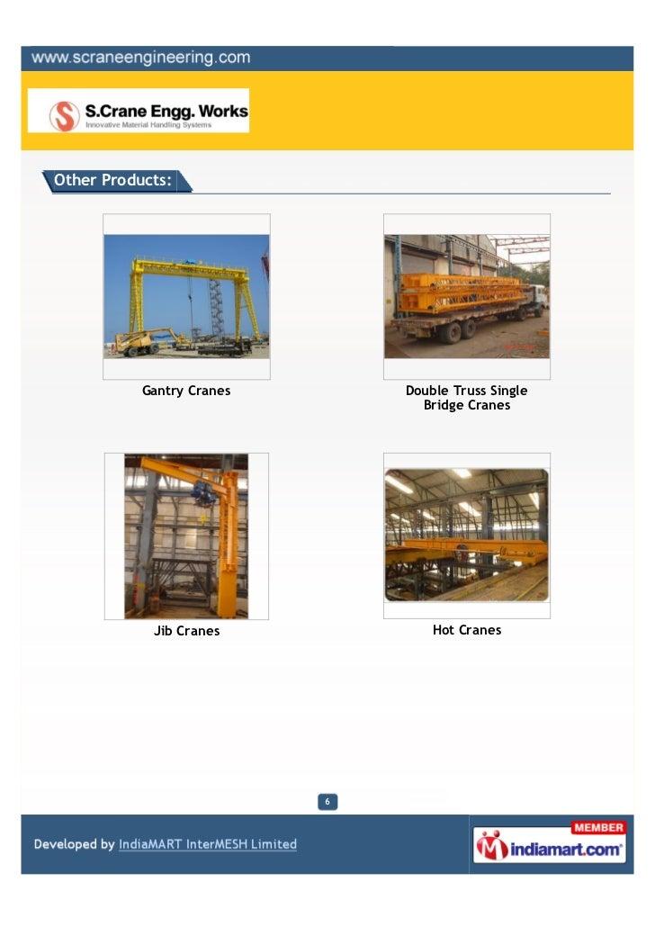 Other Products:           Gantry Cranes       Double Truss Single                                 Bridge Cranes           ...