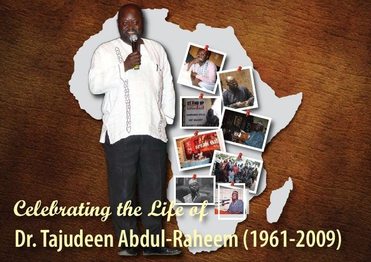 Dr. Tajudeen Abdul-Raheem (1961-2009)   1