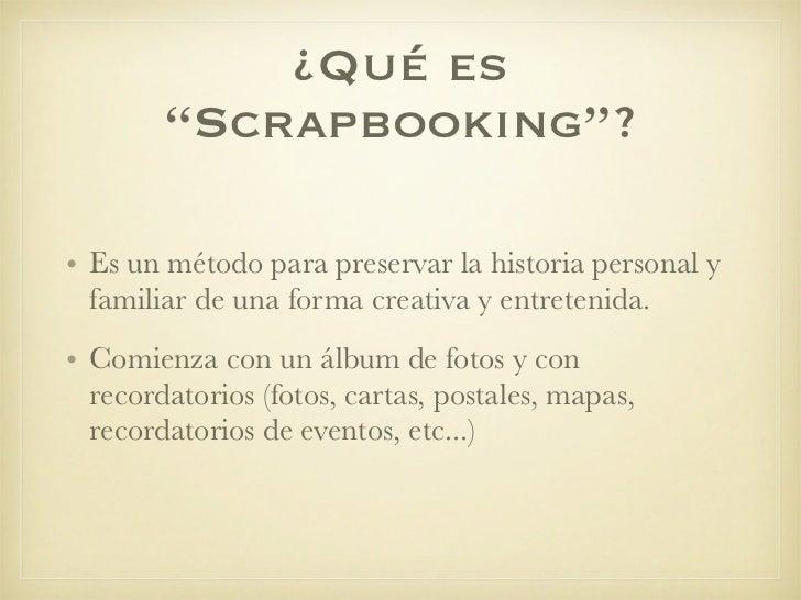 scrapbooking que es