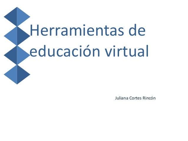 Herramientas deeducación virtualJuliana Cortes Rincón