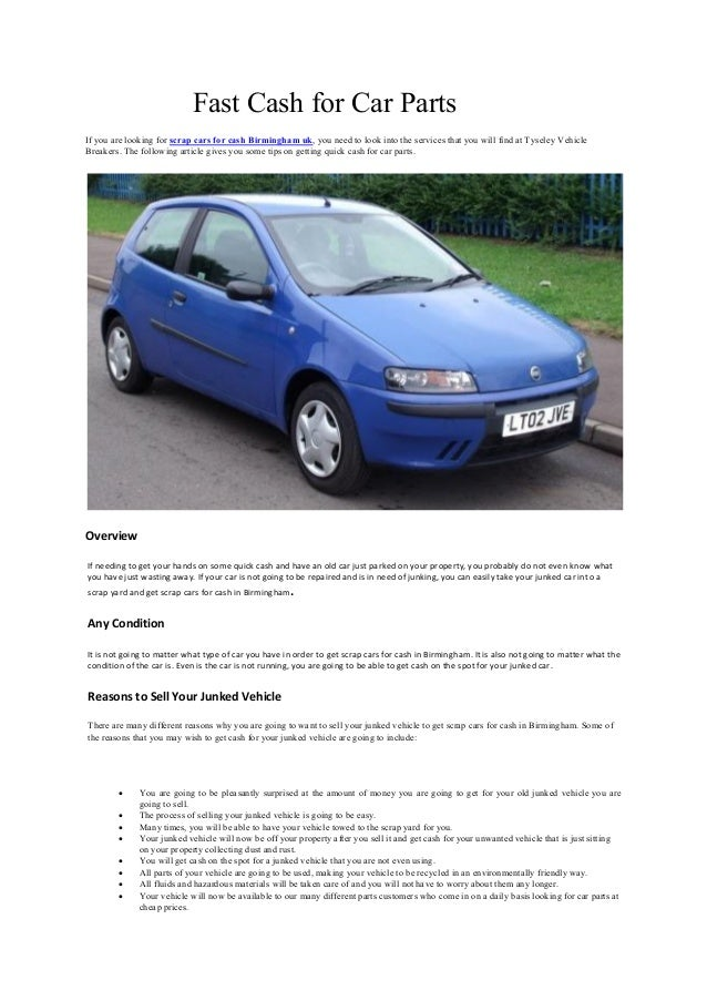 Contemporary Sell Car Not Running Ideas - Classic Cars Ideas - boiq.info