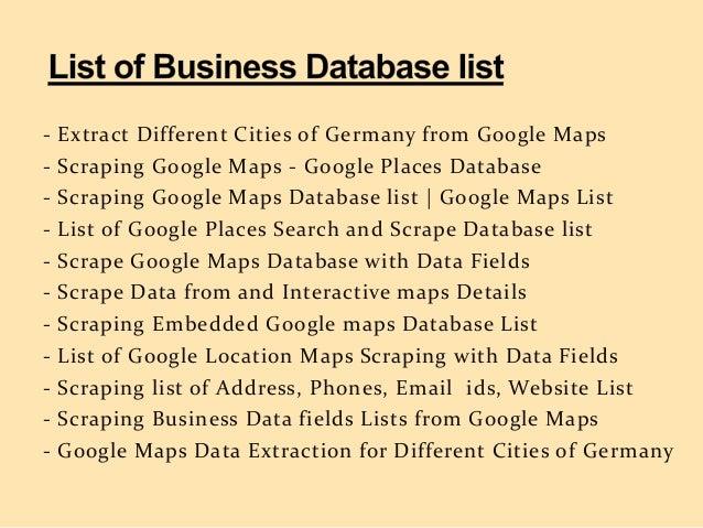 Scrape Data from Google Maps